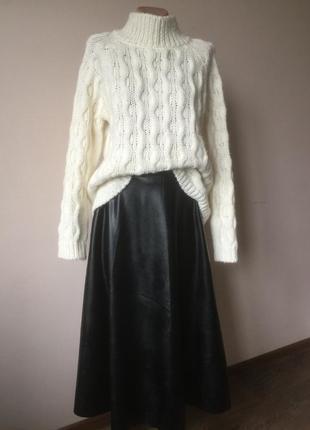 Кожаная юбка солнце- клёш, брэнд vasyawear, новая