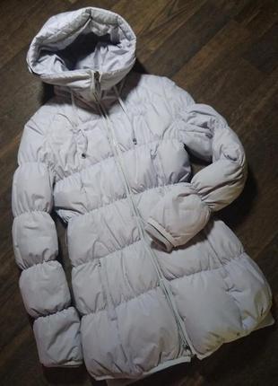 Куртка на пуху удлиненная