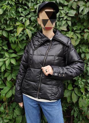 Куртка синтепоновая утепленная черная демисезонная осень 🍁 от f&f