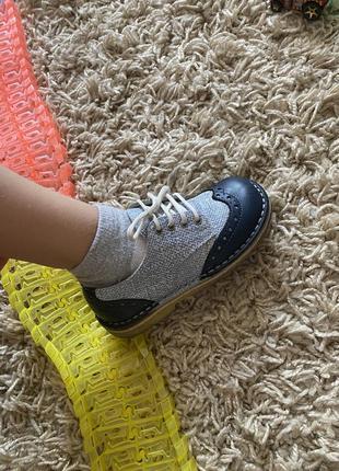 Ботинки туфли на шнуровке для мальчика