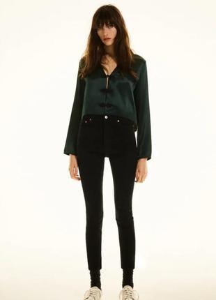 Черные джинсы с высокой посадкой zara woman, 34, 40, 42, 44р, оригинал