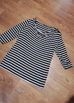 Женская блузка блуза футболка в полоску тельняшка