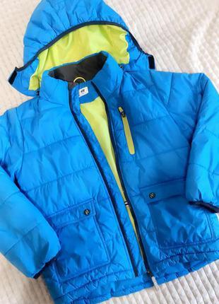 Куртка синяя h&m с капюшоном на молнии