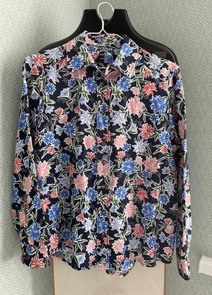 Рубашка блуза m&s р.10 евро 38 лен