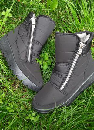 Женские сапоги зимние ботинки дутики на меху 36-42