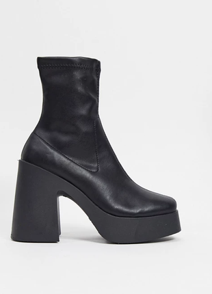 Трендовые сапоги носки, женские сапоги ботильоны, сапоги на каблуке, осенние сапожки