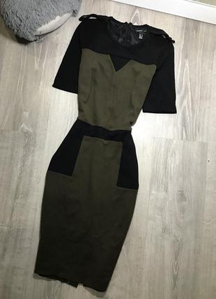 Плотное трикотажное платье футляр