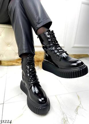 Ботиночки на байке эко лак