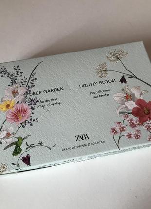 Zara deep garden lightly bloom духи парфюм парфумована вода
