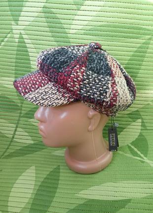 Меланжевая французская кепка с козырьком хлопок + полиэстер citi wear woman veritas