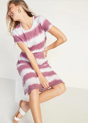 Old navy платье-миди полосатое, летнее, разм. xs-s