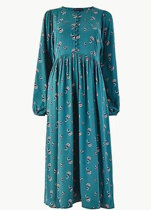 ⛔бесплатная доставка мист экспресс ⛔шикарное натуральное платье миди marks & spenser