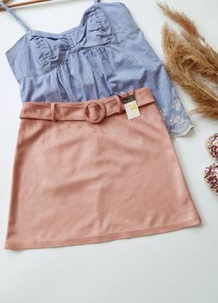 Новая велюровая юбка primark