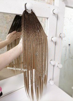 Афрорезинка афрокосички косички на резинке резинка с косичками канекалон подарок