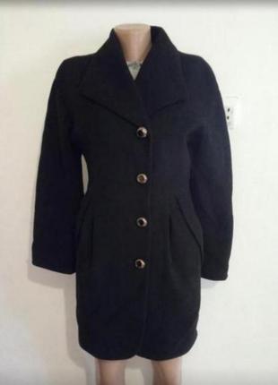 Чорне кашемірове пальто демі(демисезонная кашемировое пальто)