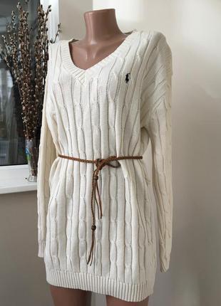 Тёплый свитер платье