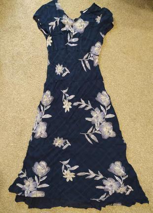 Летнее платье в пол натуральное легкое длинное платье