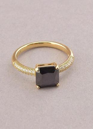 Кольцо фианит (позолота 18к)