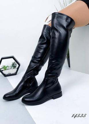 Женские ботфорты 14535 сапоги жіночі ботфорти чоботи