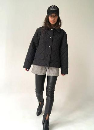 Трендовая стёганная куртка бомбер