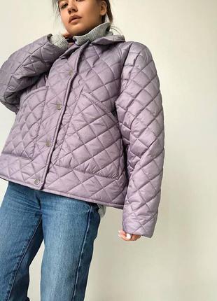 Трендовая куртка в простёжку