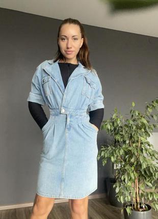 Джинсовое платье ( имитация оверсайз курточки )