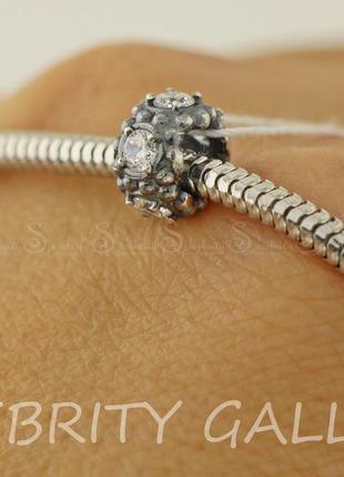 Шарм бусина для браслета в стиле пандора серебряный i 562059 bk w серебро 925