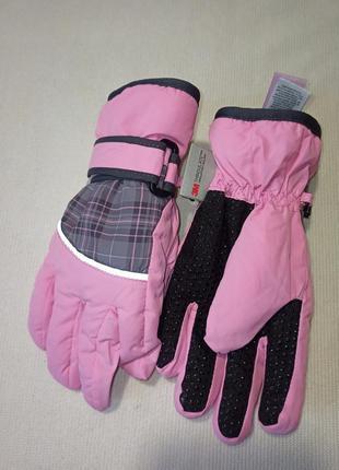 Зимние детские перчатки краги. розовые перчатки.
