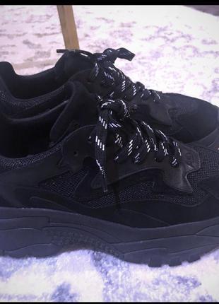 Чёрные замшевые кроссовки ash оригинал