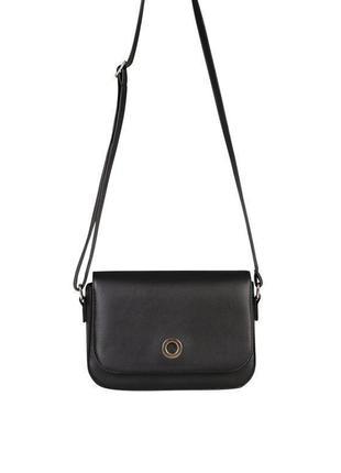 Сумка чорна, маленька сумка на плече, сумка маленькая чорная, сумка кросс боди.