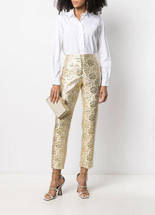 Жаккардовые брюки, кроя слим zara