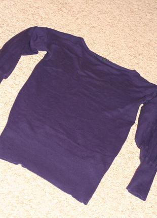 Фиолетовый свитер benetton