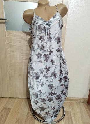 Акция 1+1=3🤩🤑 нежная легкая ночнушка платье в цветах гладкая приятная