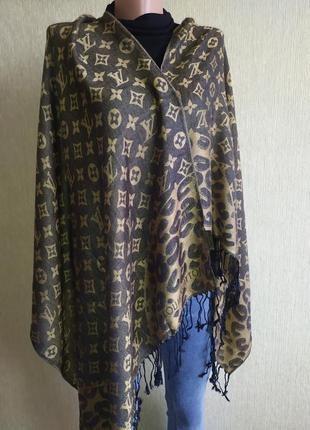 Шикарный фирменный палантин шарф шаль из шерсти