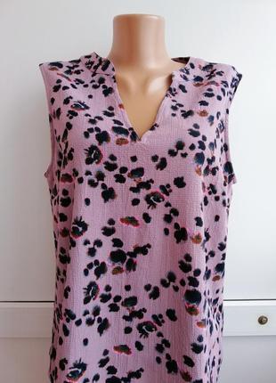 Блуза лилового цвета чёрный принт