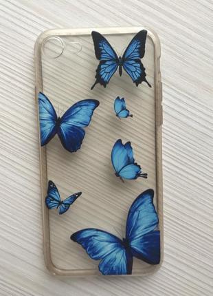 Чехол с бабочками на айфон 7