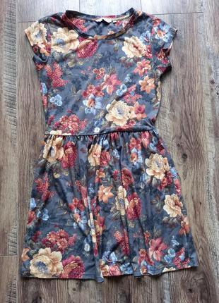 Літнє плаття з квітковим принтом c&a