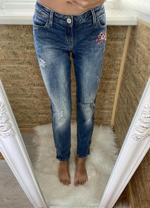 Джинсы оригинал, джинсы с вышивкой
