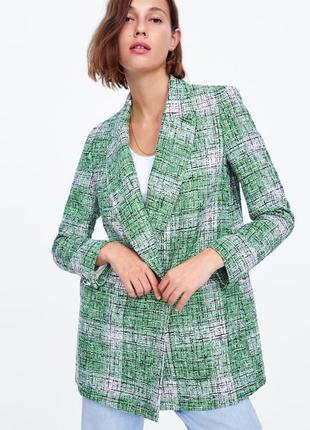 Твидовый пиджак / блейзер zara