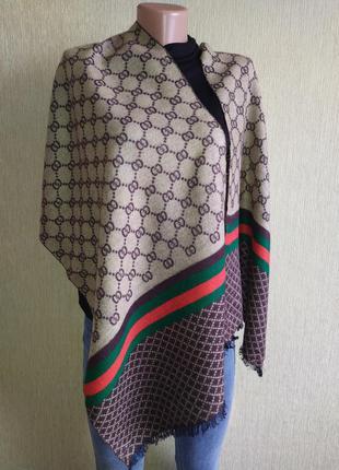 Gucci кашемировый двусторонний шарф унисекс