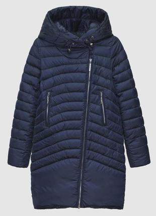 Куртка с манжетами женская braggart синяя зимняя 200032 синий голубой