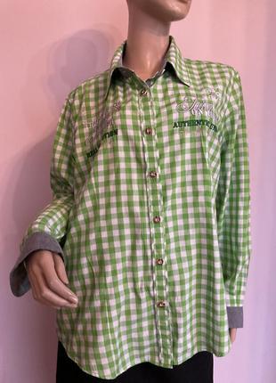 Рубашка в клетку с декором/44/brend alpin