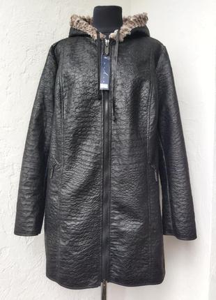 Женская черная куртка батал. польша