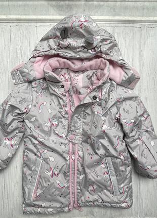 Зимняя куртка, единороги