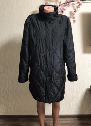 Демисезонная стеганая куртка удлиненая 🍂