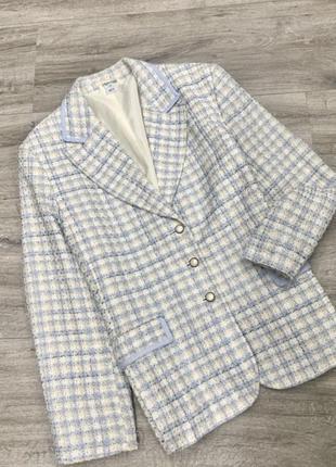 Безумно красивый твидовый жакет , пиджак твид marks&spencer блейзер