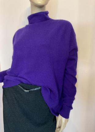Свободный кашемировый свитер с высоким горлом/l/brend esisto