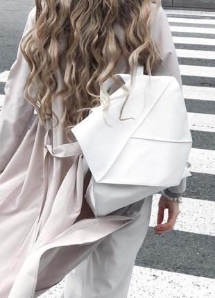 Рюкзак из кожзама белый torba