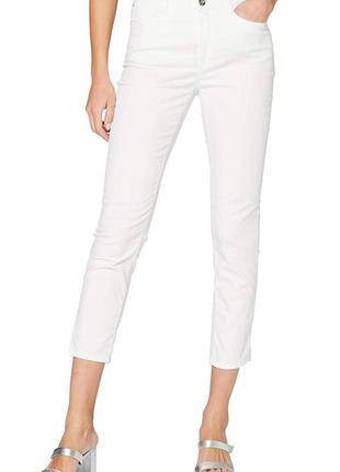 Белые укороченные брюки brax