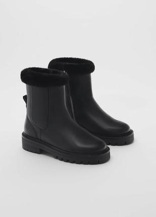 Zara 100% кожаные ботинки все размеры в наличии